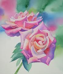 Lukisan Bunga Mawar Menggunakan Cat Air Brad Erva Doce Info