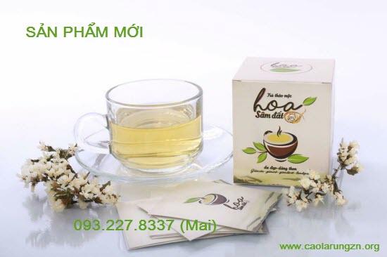 trà giảm cân hoa sâm đất