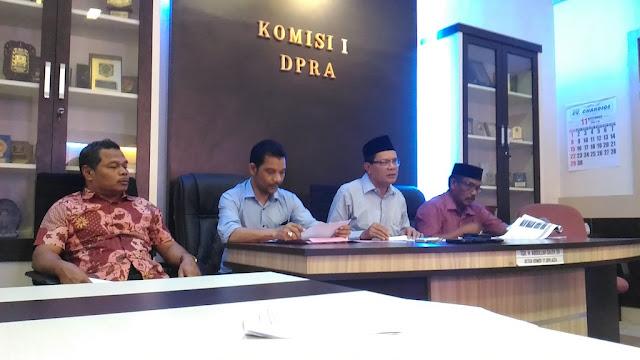 Komisi I DPRA : Timsel KKR Aceh Bekerja Satu Bulan