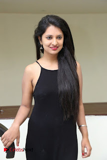 Actress Nikita Bisht Pictures in Black Long Dress at Akritti Elite Exhibition Launch  0041