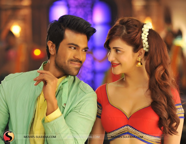 Shruti hassan with Ramcharan sexy look images