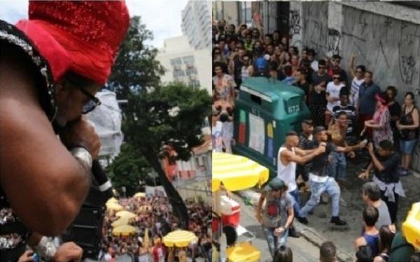 Carlinhos 'Brown Bloco du Brasil' em SP (Foto: Deividi Correa/AgNews)