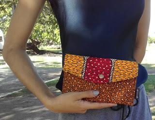 carteira marroquina da belecar em tecido africano cluch étnica
