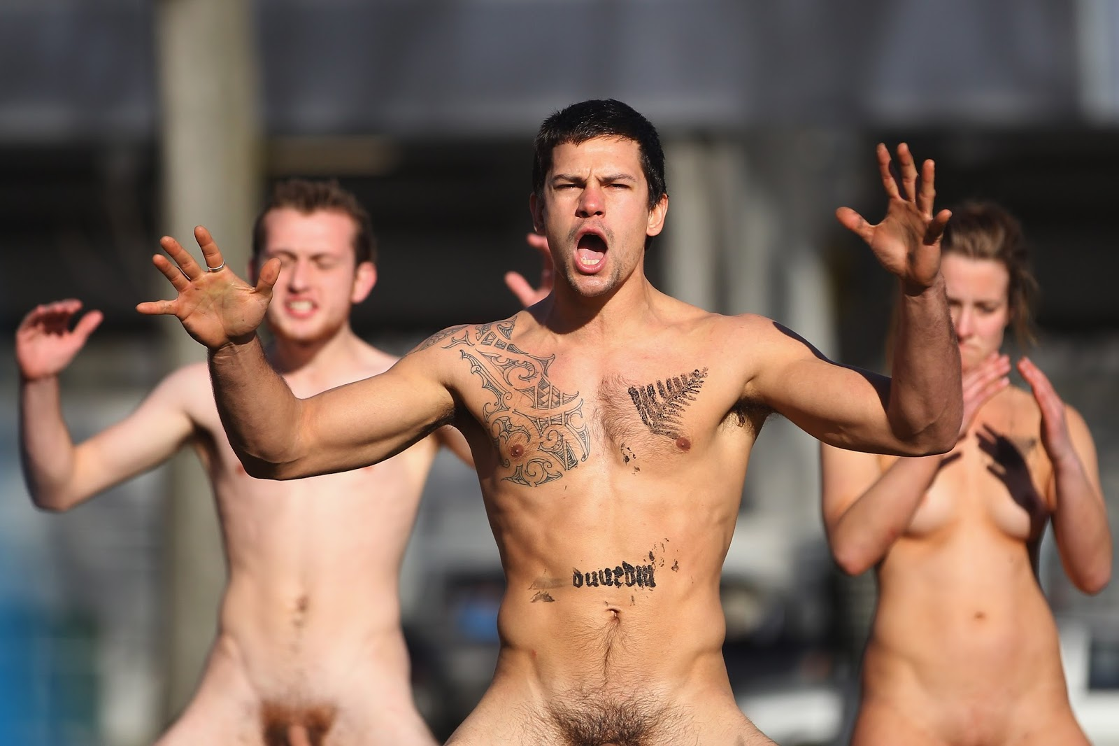 Anyone up for some nude beach rugby