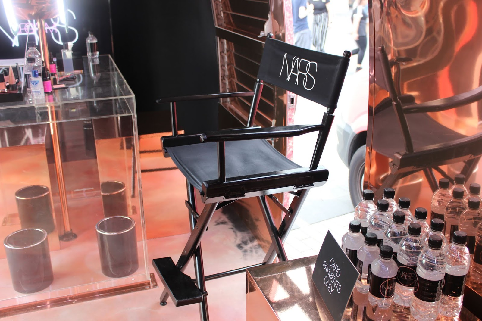 A directors' chair with NARS written on it