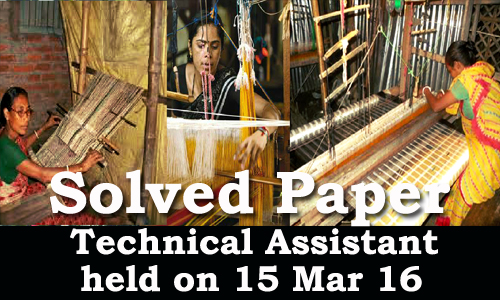 Kerala PSC - Solved Paper Technical Assistant (KHADI) held on 15 Mar 2016