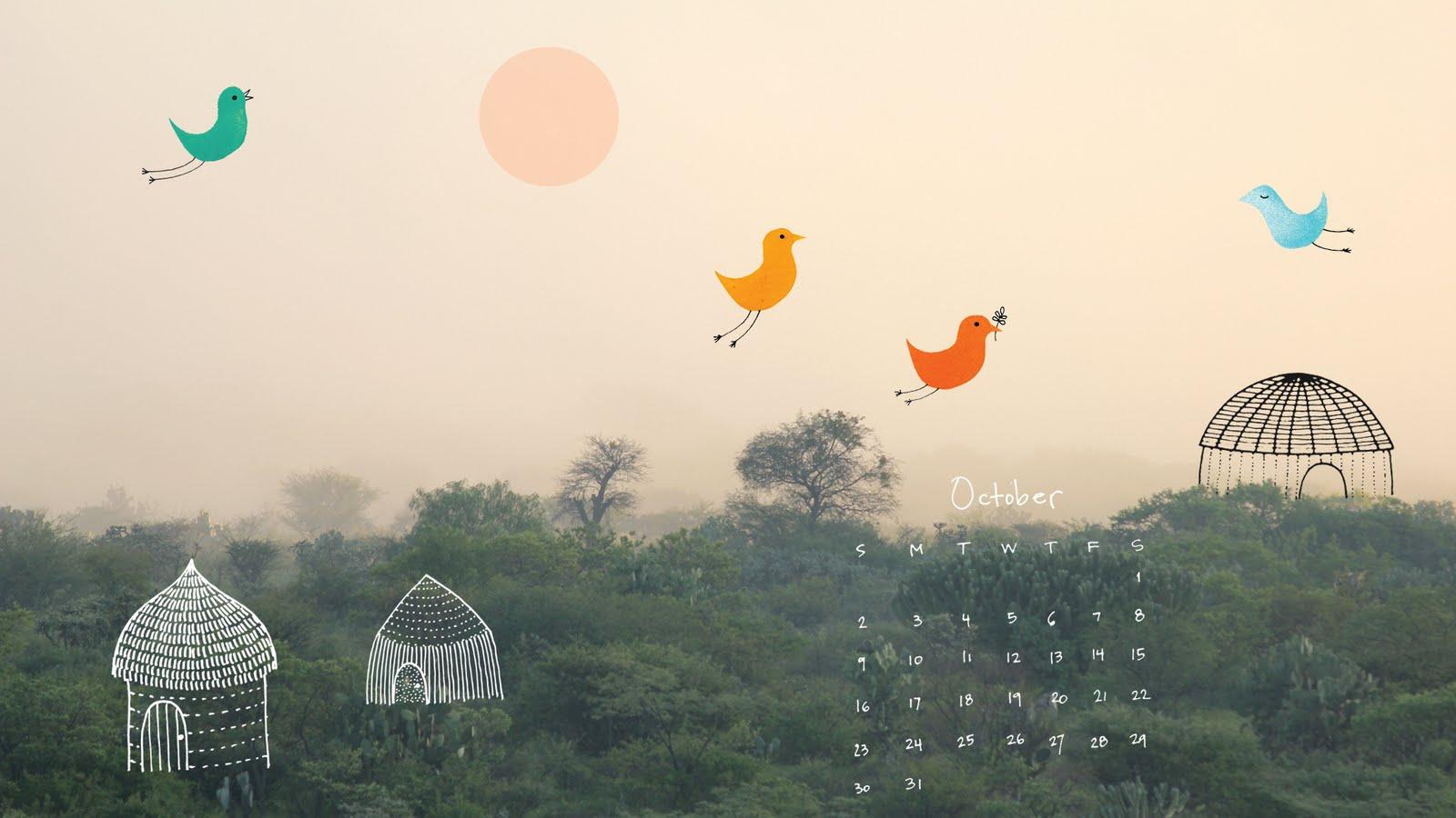 October 2011 Desktop Wallpaper Calendar Geninnes Art Blog