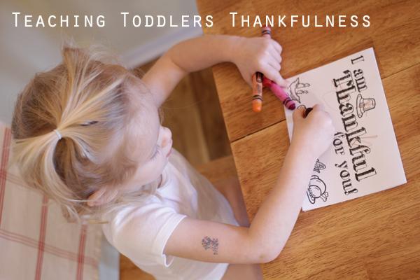 Teaching Toddler Thankfulness Activity