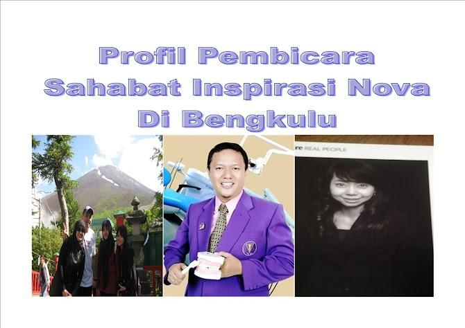 Profil Pembicara Sahabat Inspirasi Nova Di Kota Bengkulu