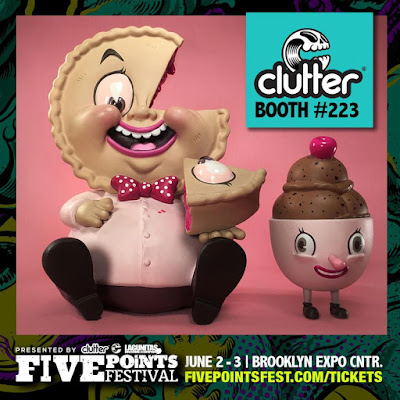 Five Points Festival 2018 Exclusive Mister Self Indulgence Berry Pink Edition Vinyl Figure by Nouar x Martian Toys x Clutter