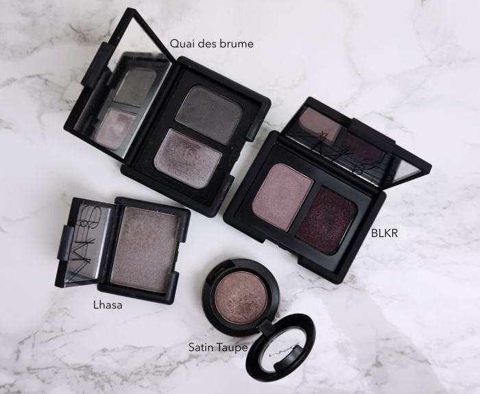 NARS BLKR eyeshadow duo swatch review comparison