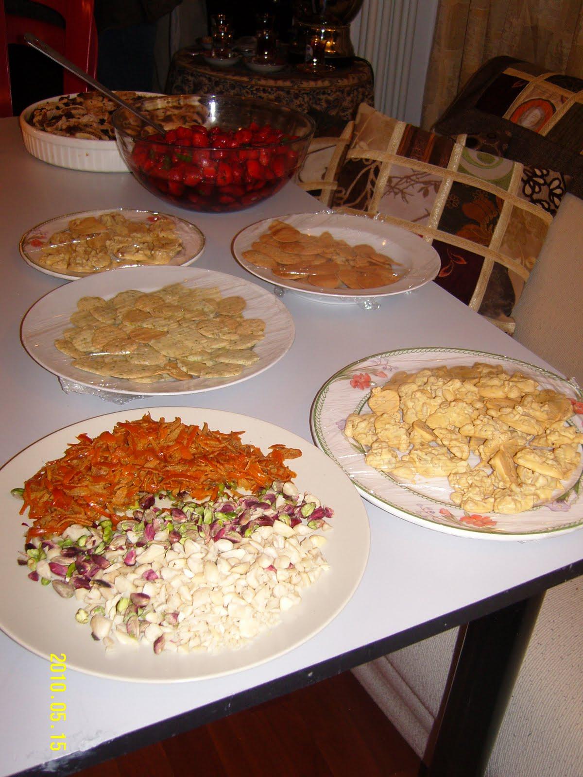La mia cucina persiana La torta speziata con la frutta secca
