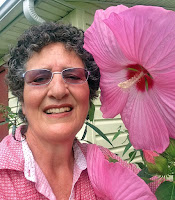 Jeanne with Giant Hibiscus