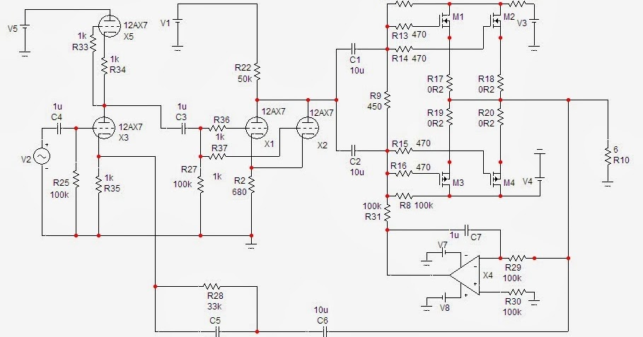 ESPRITAUDIO: Hybrid Power Amplifier Using 12AX7 as Input
