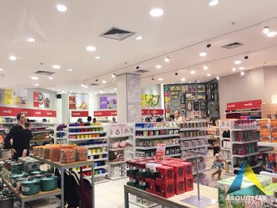 projeto arquitetura loja shopping iluminação
