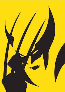 cartel minimalista  de super héroe Wolverine
