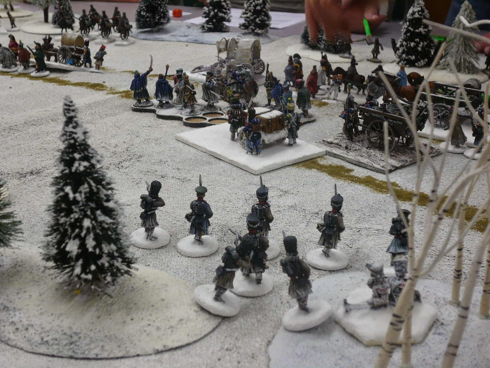 Russian infantry catch the column.