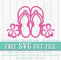 flip flop svg free cutting file