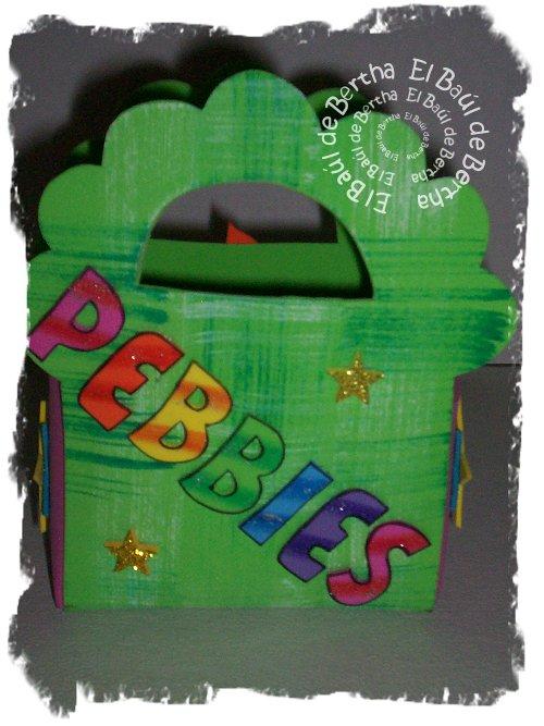 Bolsita Dulcero con Carita de Pebbles en Foamy Pebbles%2BBolsita%2BDulcero%2B%25281%2529