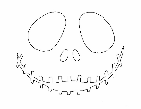 picture about Jack Skellington Printable identified as √ Jack The Pumpkin King Pumpkin Template No cost Free of charge