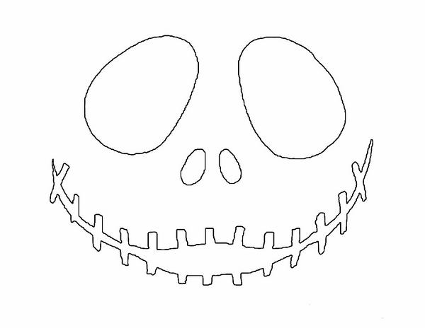 Free Printable Jack Skellington Pumpkin Carving Stencil Templates Download  Printable Face Templates