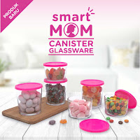 Dusdusan Smart Mom Canister Glassware Set of 6 Round ANDHIMIND
