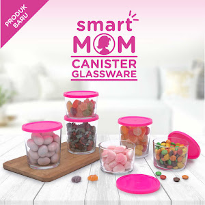 Smart Mom Canister Glassware Set of 6 Round