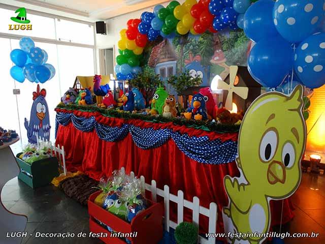 Decoração infantil Galinha Pintadinha - Mesa temática de aniversário