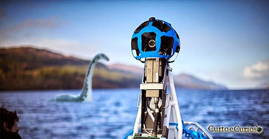 O Google Street View encontrou o Monstro do Lago Ness?