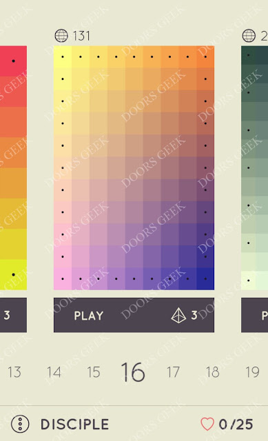 I Love Hue Disciple Level 16 Solution, Cheats, Walkthrough