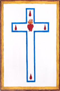 Escapulario de los Sagrados Corazones de Jesús y de María - Parte Frontal