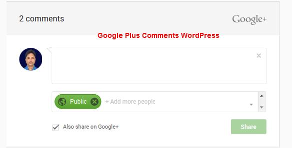 Google Plus Comments WordPress