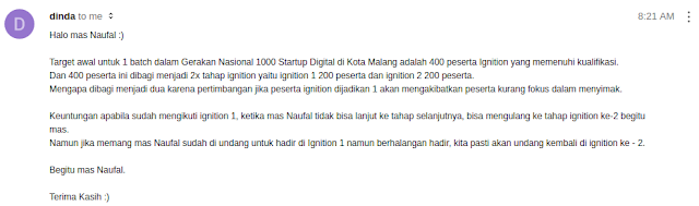 1000 Startup Malang : Ignition 1 dan 2