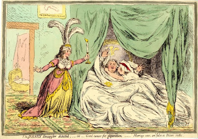 The Jersey smuggler detected; - or - good causes for discontent [separation]  Print made by James Gillray 24 May 1796  Published by Hannah Humphrey © British Museum