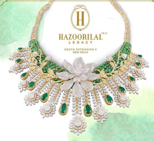 Diamond Emerald Set by Hazoorilal Legacy