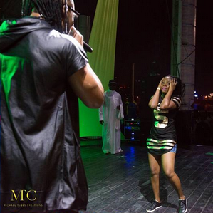 Girls Go Crazy For Flavour In Ivory Coast (Photos)