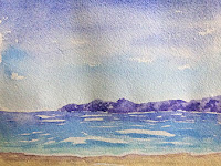 seascape created during an art workshop