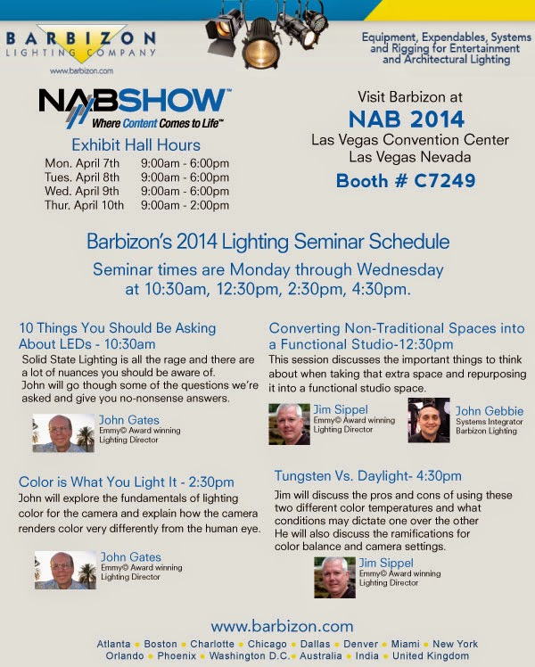 Barbizon NAB 2014 Educational Sessions