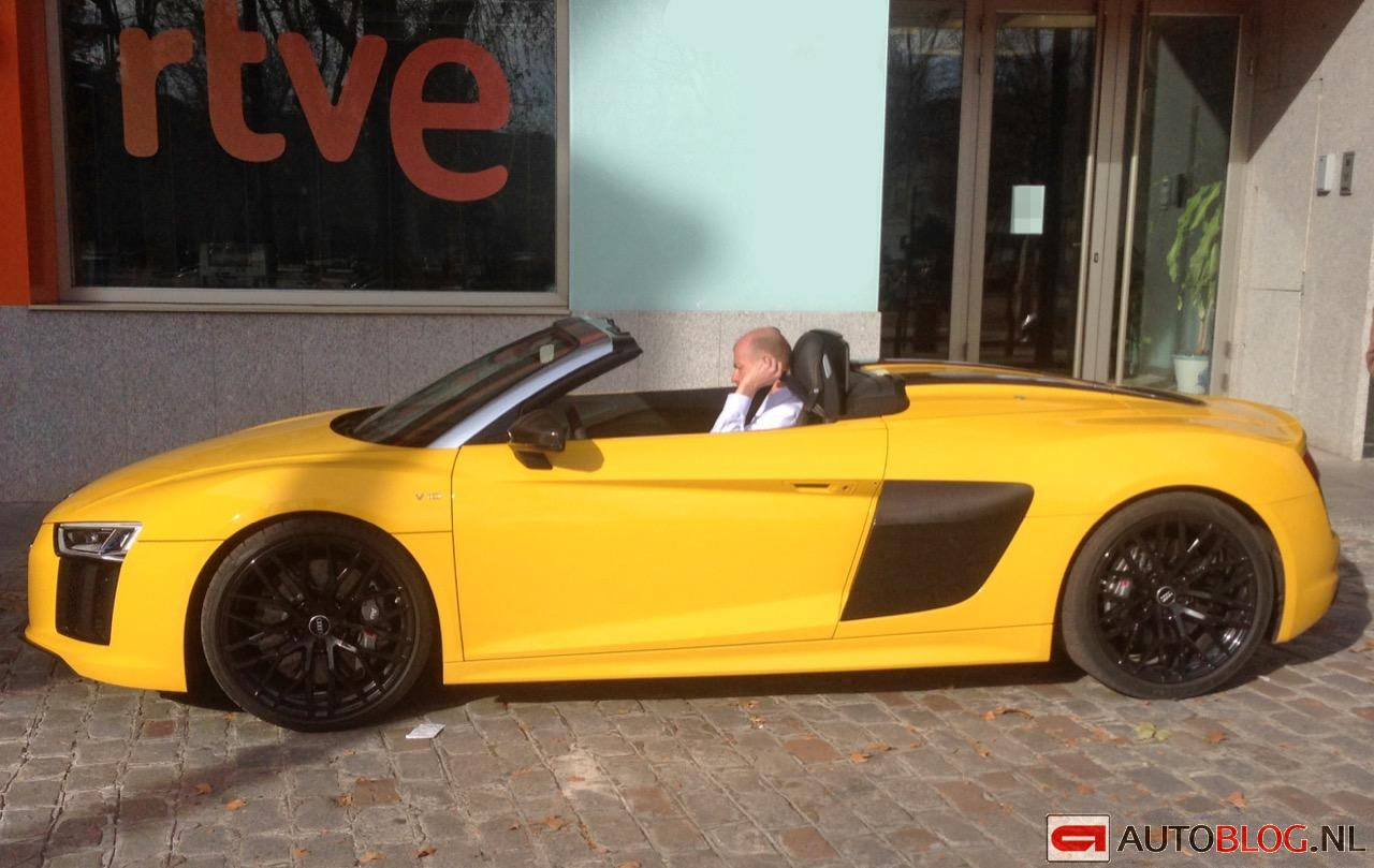 New Audi R8 V10 Plus Spyder Spotted In Bright Yellow