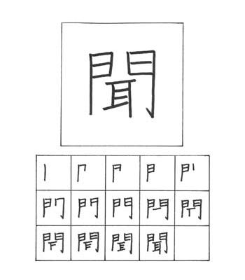 kanji mendengar