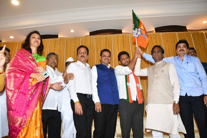 Maharashtra Congress leader's son Sujay Vikhe Patil joins BJP
