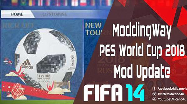 FIFA 14 ModdingWay World Cup Russia 2018 Mod