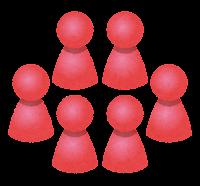 グループのイラスト(赤)