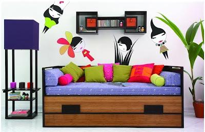 Wall shelf Kokeshi for modern bedroom furniture sets