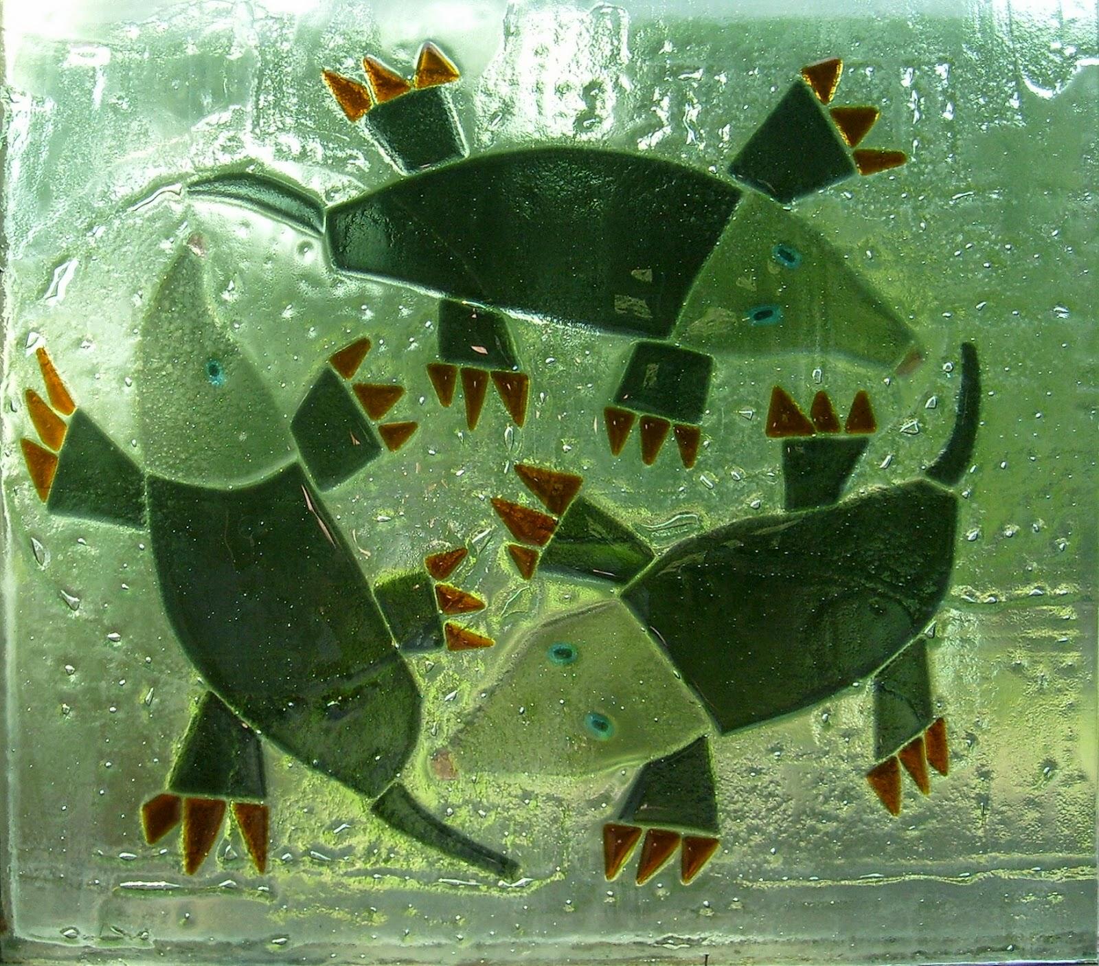 vitráž spékané sklo