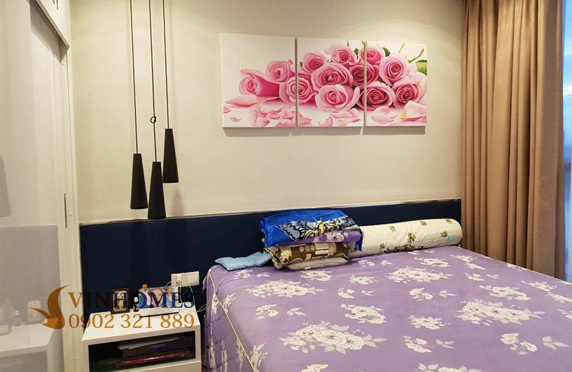 Căn hộ cho thuê 1PN tại Vinhomes Bình Thạnh view sông SG - phòng ngủ