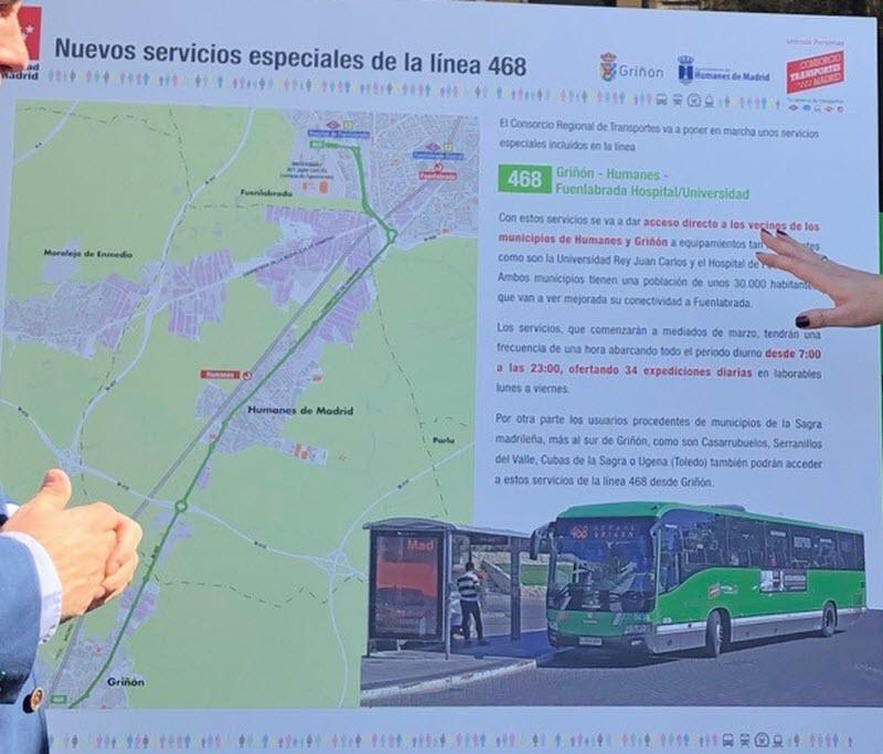 Calendario Laboral Fuenlabrada 2020.Servicio Especial De Autobuses Linea 468 Al Hospital De Fuenlabrada