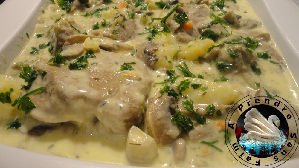 Blanquette de veau aux pommes de terre (pas à pas en photos)
