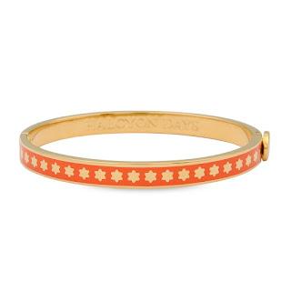 Orange and gold skinny star enamel bangle halcyon days