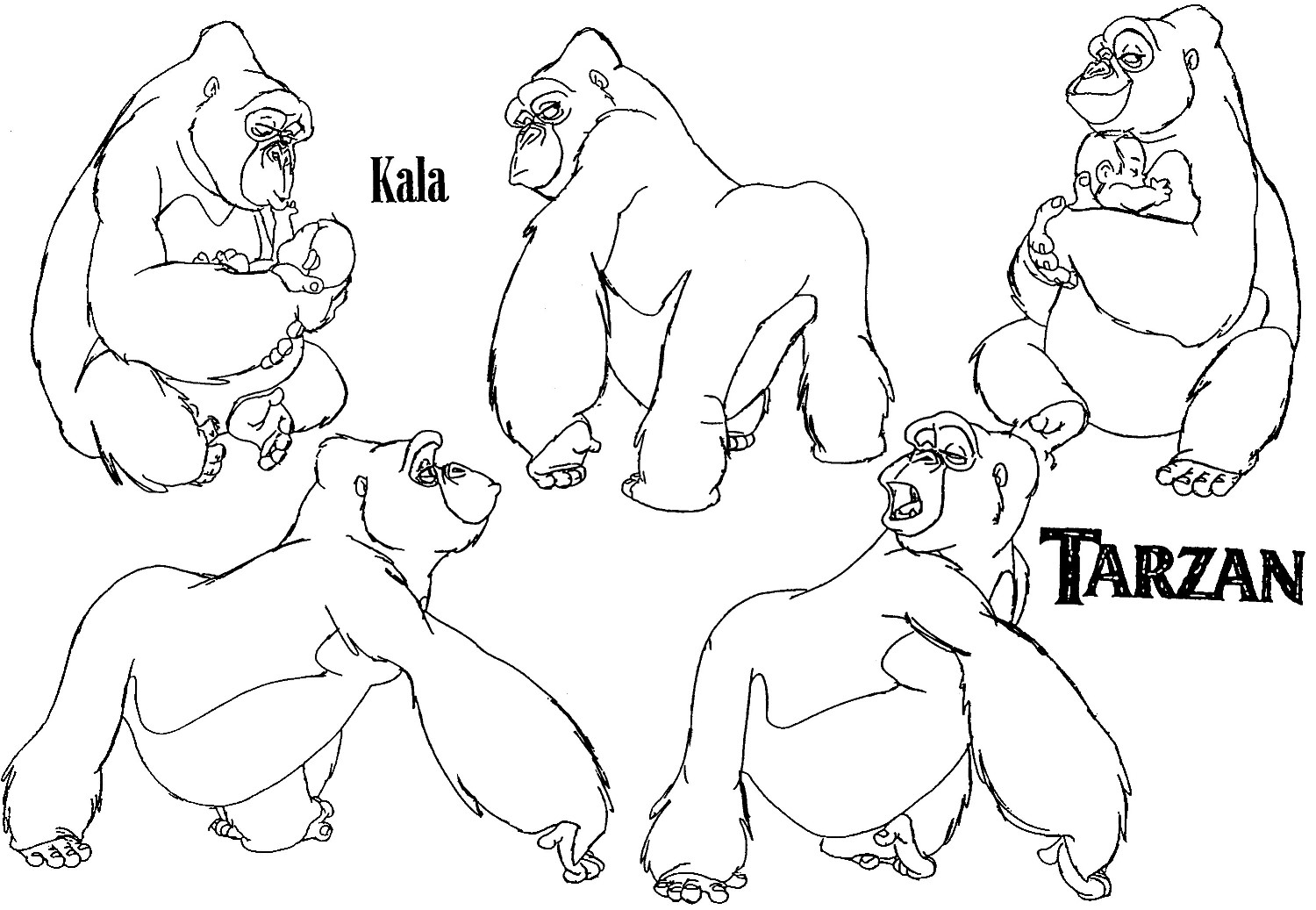 Refart At Calarts Tarzan Gorilla Model Sheets 2